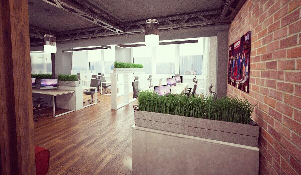 дизайн офиса open space